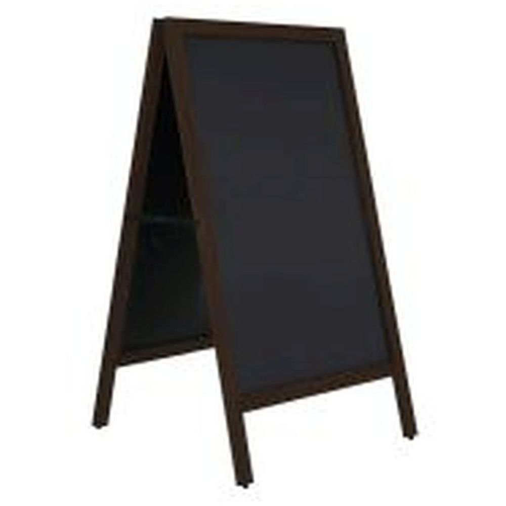 Wooden A-board Black with Steel Board