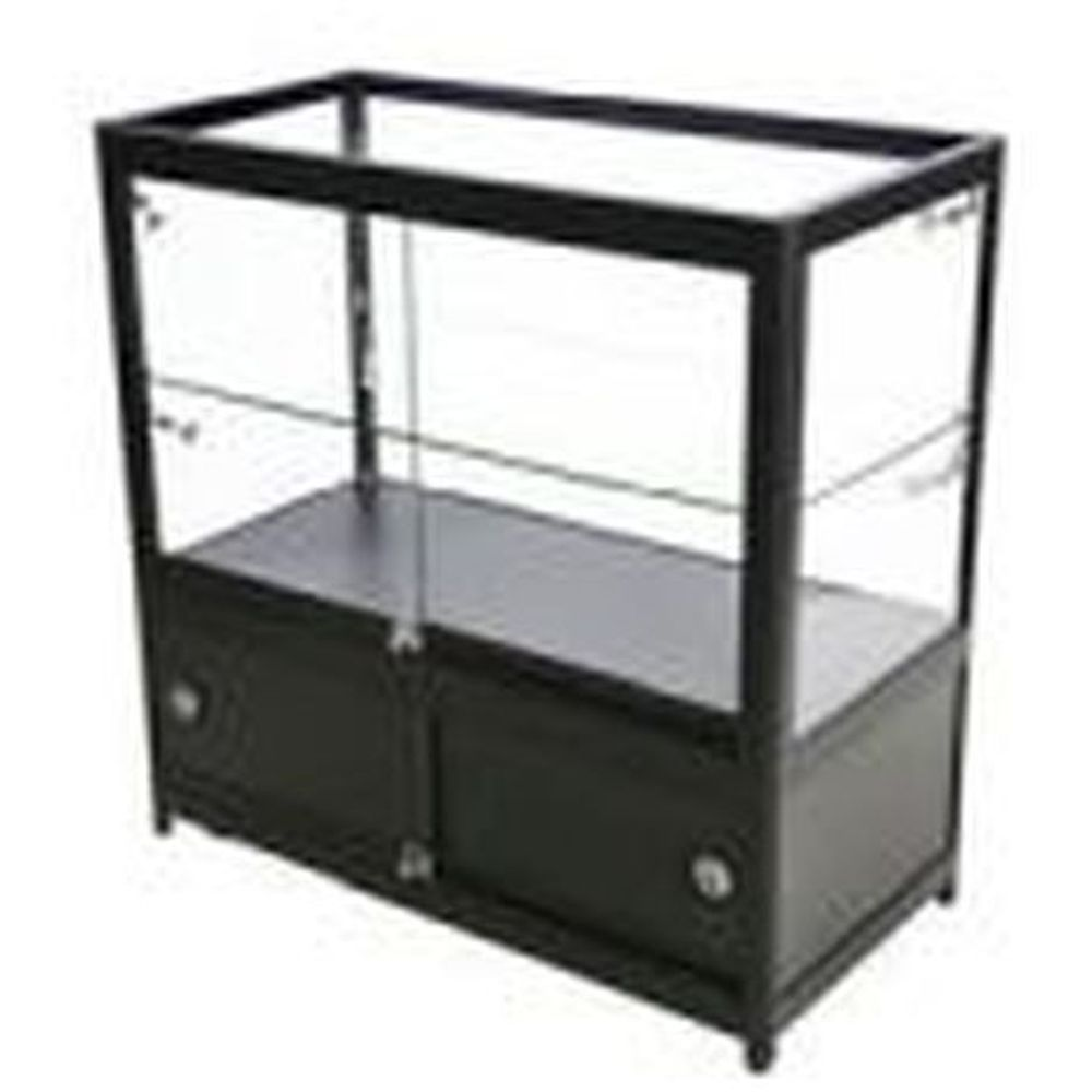Showcase Counter, Duo with storage - Black