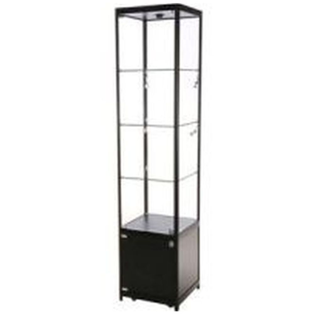 Showcase Tower, Solo with storage - Black