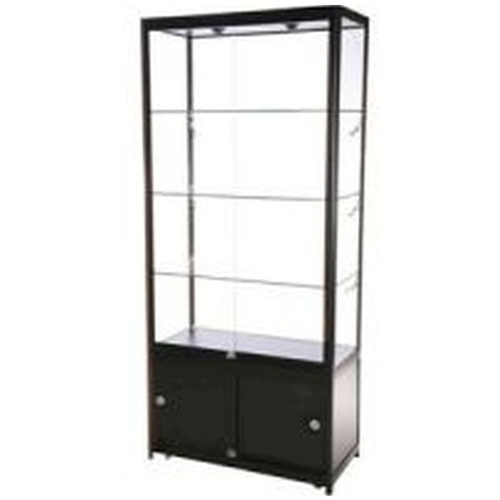 Showcase Tower, Duo with storage - Black