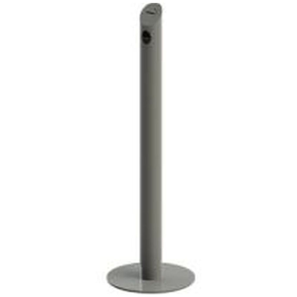 Cigarette Bin Pole - grey coated